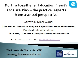 Putting together an Education, Health and Care Plan – the