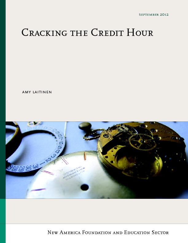 Cracking the credit hour