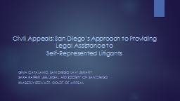 Civil Appeals: San Diego's Approach to Providing Legal As