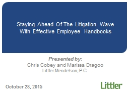 Staying Ahead Of The Litigation Wave