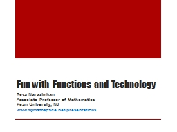 Fun with Functions and Technology