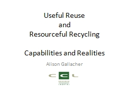 Useful Reuse PowerPoint PPT Presentation