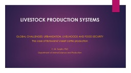 LIVESTOCK PRODUCTION SYSTEMS PowerPoint PPT Presentation