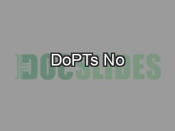 DoPTs No PDF document - DocSlides