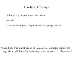 Function of Groups