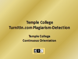 Temple College PowerPoint PPT Presentation