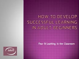 How to Develop Successful Learning