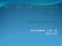The Golden Rule of Customer Service