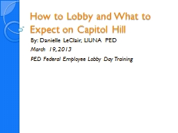 How to Lobby and What to Expect on Capitol Hill