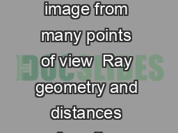 Mirrors and Images Plane mirrors Image in a mirror object image eye Same image from many points of view  Ray geometry and distances from the mirror  Since the angle of reection is always equal to the