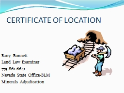 CERTIFICATE OF LOCATION