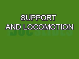 SUPPORT AND LOCOMOTION PowerPoint PPT Presentation