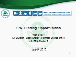 EPA Funding Opportunities PowerPoint PPT Presentation