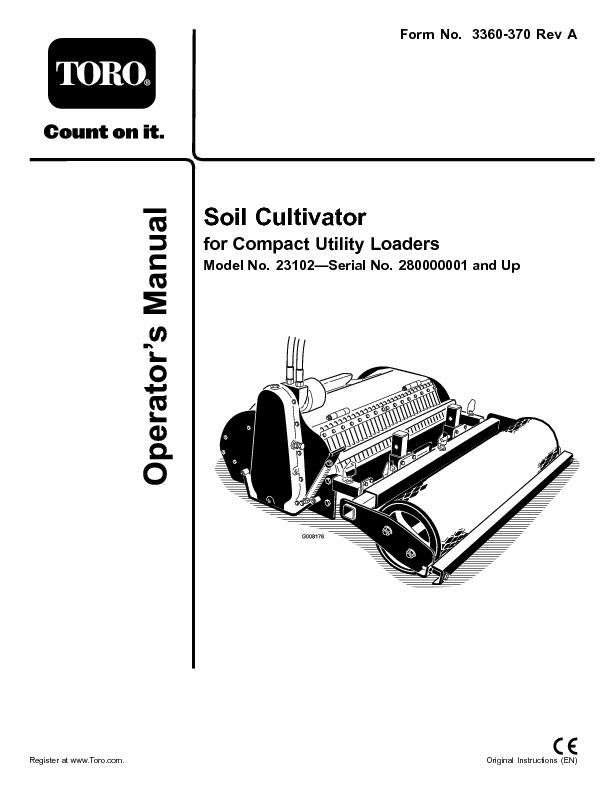 Soil cultivator for compact utility loaders pdf document for Utility of soil