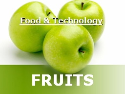 Food & Technology
