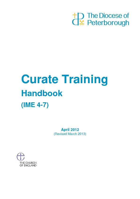 Curate Training hand book PowerPoint PPT Presentation