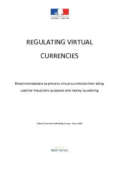 Recommendations to prevent virtual currencies from being used for fraudulent purposes and money laundering