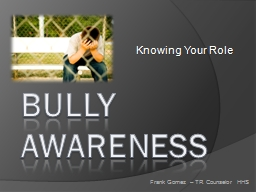 BULLY AWARENESS