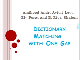 Dictionary Matching