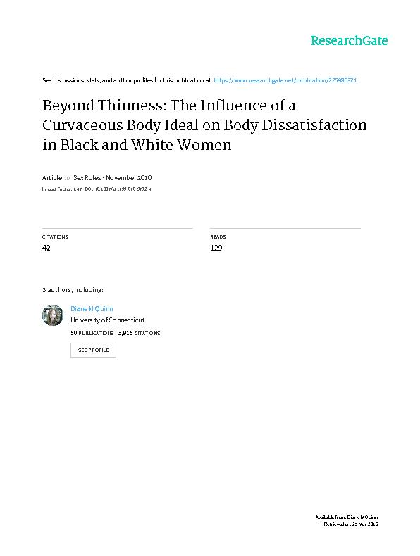 The Influence of a Curvaceous Body Ideal on Body dissatisfaction in black and white women