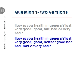 1 Question 1- two versions