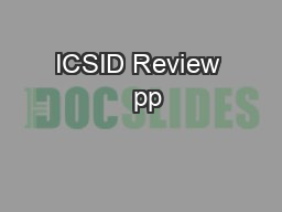 ICSID Review   pp