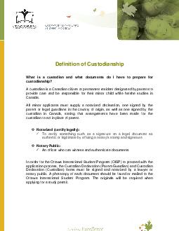 Definition of Custodianship  What is a custodian and what documents do