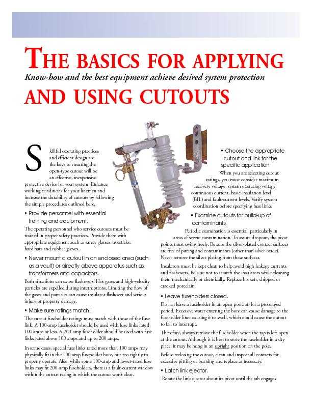The basics for applying and using cutouts