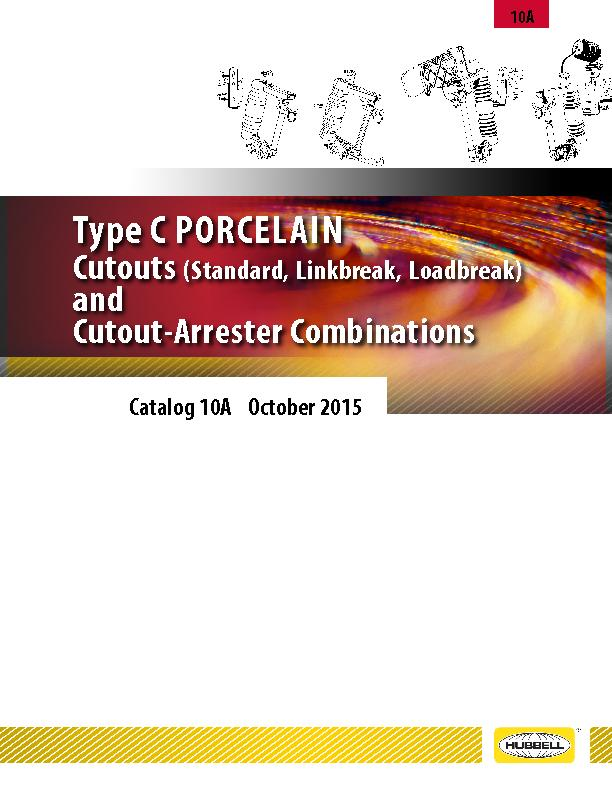 type cporcelan cutouts and cutout arrester combinations