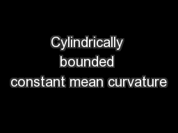 Cylindrically bounded constant mean curvature