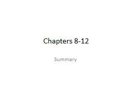 Chapters 8-12