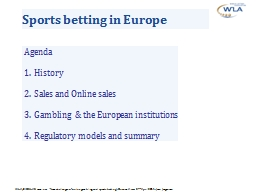 Sports betting in Europe