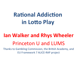Rational Addiction in Lotto Play