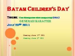 Batam Children's Day
