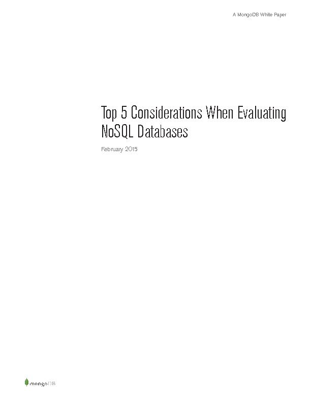 Top 5 Considerations When Evaluating