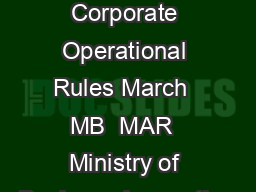 Body Corporate Operational Rules March  MB  MAR  Ministry of Business Innovation