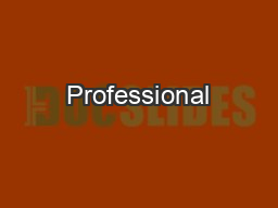 Professional PowerPoint PPT Presentation