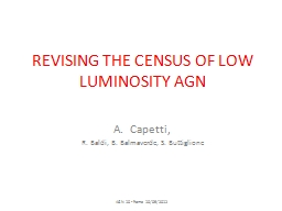 REVISING THE CENSUS OF LOW  LUMINOSITY AGN