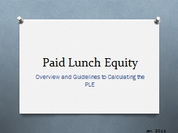 Paid Lunch Equity PowerPoint PPT Presentation