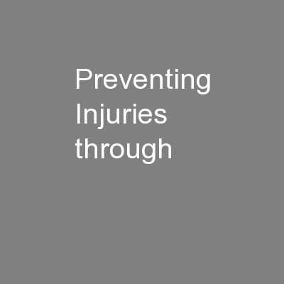 Preventing Injuries through
