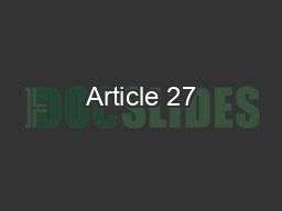 Article 27