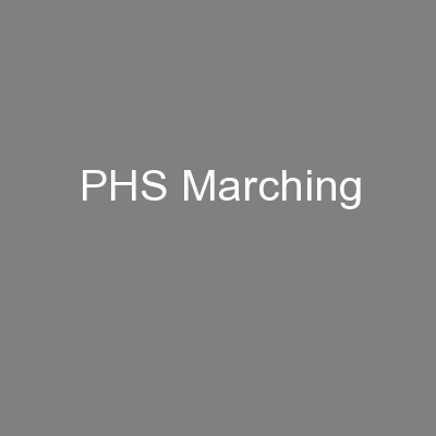 PHS Marching