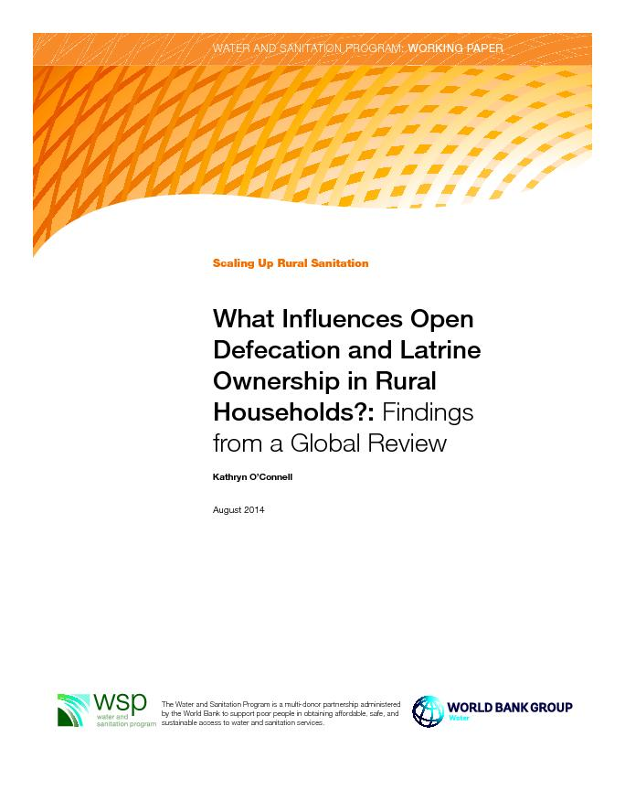 What influence open defecation and latrine ownership in rural households