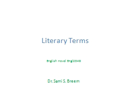 Literary Terms PowerPoint PPT Presentation