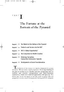Chapter  The Market at the Bottom of the Pyramid Chapter  Products and Services for the BOP Chapter  BOP A Global Opportunity Chapter  The Ecosystem for Wealth Creation Chapter  Reducing Corruption r