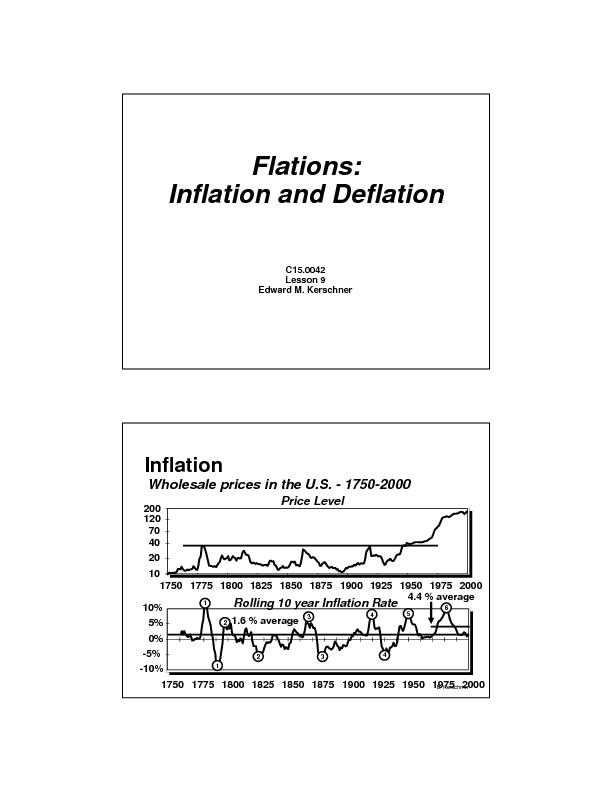 Flations inflation and deflation