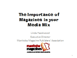 The Importance of Magazines in your