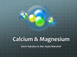 Calcium PowerPoint Presentation, PPT - DocSlides