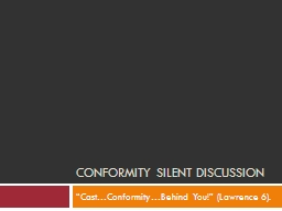 Conformity silent discussion