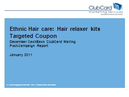 Ethnic Hair care: Hair relaxer kits Targeted Coupon